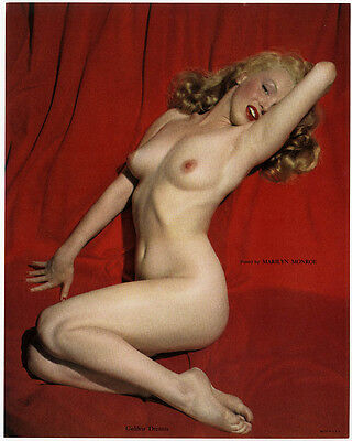 Infamous Marilyn Monroe 1950s Vintage Nude Pin-Up Print Golden Dreams Pose Fine