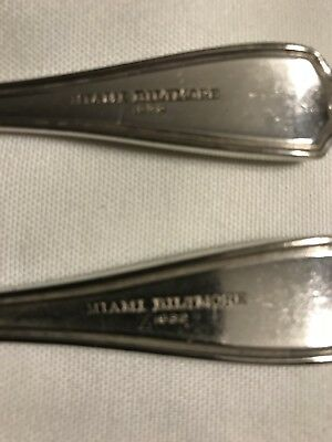 Miami Biltmore Coral Gables Silver Plate 1916 pat  stamp LOVERS TWO SPOON STEAL