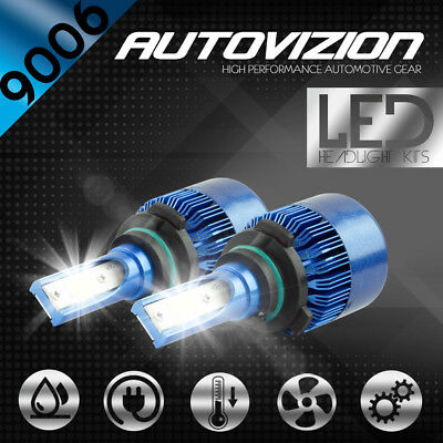 AUTOVIZION LED HID Headlight kit 9006 White for 1987-1996 Cadillac Fleetwood