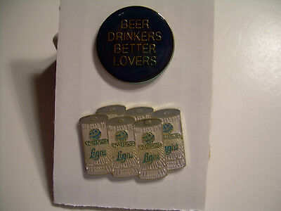 Schlitz Vintage Misspelled & Beer Drinkers Pin from the 80's