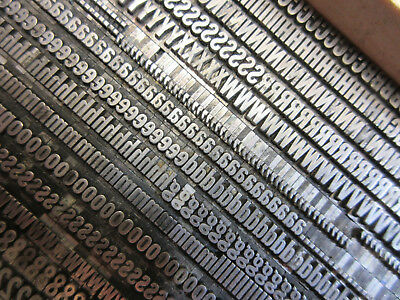 Letterpress Lead Type 18 Pt. Franklin Gothic Extra Condensed ATF # 165   H5