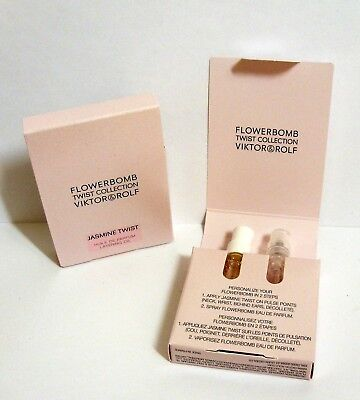 Lot of 2 Viktor & Rolf 2 pc FLOWERBOMB JASMINE TWIST Sample Collection NEW!