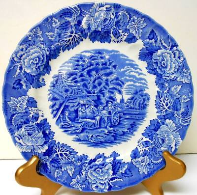 "Vintage Blue Wood And Sons England Enoch Woods ENGLISH SCENERY 10"" Dinner Plate"