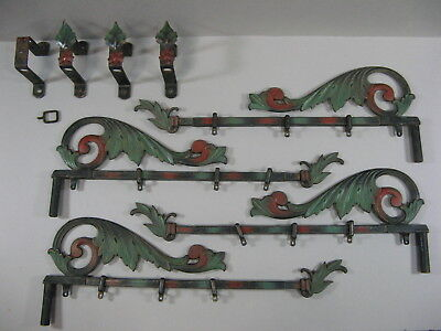 Vintage 2 Pairs Kirsch Swing Arm Expandable Drapery/Curtain Rods Wall Brackets