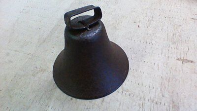Antique/Vintage Cast Iron Dinner Bell Farm~Porch~Bar~ RUSTY PATINA