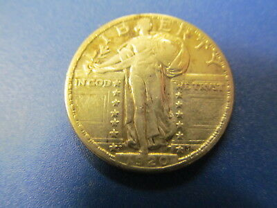 1920-S  Standing Liberty Quarter - Well Detailed Circulated Coin -