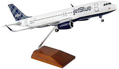 Skymarks SKR8354 Jetblue Airbus A320-2 Tartan Desk Display 1/100 Model Airplane