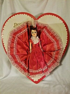 Vintage Pangburn's Fort Worth Heart Box with Doll Valentines Chocolate -No Candy