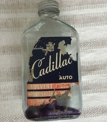 VINTAGE~~RARE~~Cadillac Auto Windshield Washer Solvent Bottle GM Corp. DETROIT