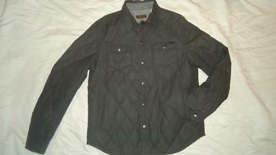 New Mens Guess By Marciano Quilted Diamond Reversible Shirt Jacket Green S Xxl