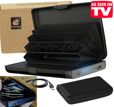 Atomic Beam Charge Wallet Deluxe RFID Block Protect E-Charge Phone AS SEEN ON TV