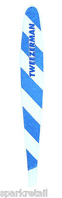 Tweezerman Blue & White MINI SLANT TWEEZER Slanted Travel Tweezers Pocket Size
