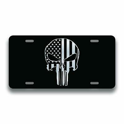 Punisher Skull Guns License Plate Tag Vanity Front Aluminum6-Inch By 12-Inch