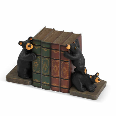Nib Big Sky Carvers Bearfoots Bear By Jeff Fleming - Trilogy Bookends Book Ends