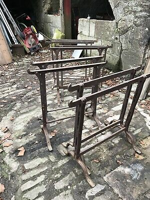 Job Lot Vintage Industrial Victorian Iron Trestle Tables 4 Pairs Bases
