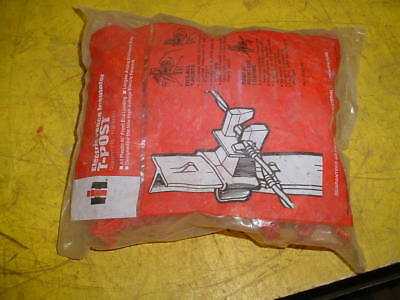 A Bag Of 25 International Harvester T-Post Electric Fence Insulators