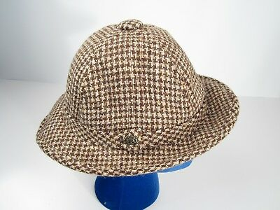 Vintage Stetson Brown Tweed Bucket Womens Hat Small Union Made in USA bad5617d4718