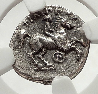 PHILIP II 323BC Macedonia Authentic Ancient Silver Greek OLYMPIC Coin NGC i66644