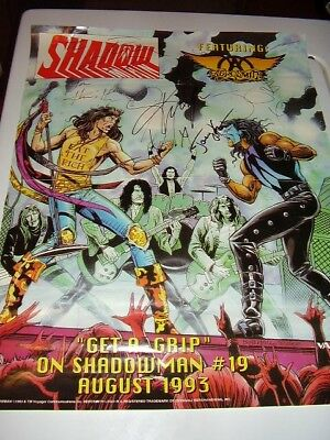 Shadowman Promo Poster - Signed by Aerosmith; Tyler, Perry +2 Valiant FREE S/H
