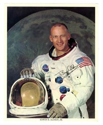 Buzz Aldrin, dressed in his NASA spacesuit, signed color photo Lot 2