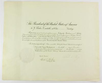 President Calvin Coolidge and Charles Evans Hughes DS re: appointment ... Lot 30