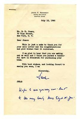 John F. Kennedy signed and annotated TLS in 1946, responding to a jovi... Lot 99