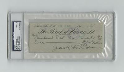 Jack London writes a check to Mutual Tel. Co., encapsulated PSA/DNA M... Lot 118