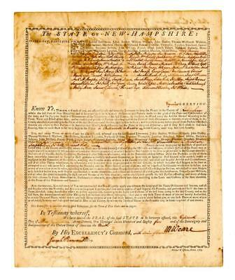 """President of New Hampshire, 1785: """"... you, are assigned jointly and ... Lot 207"""