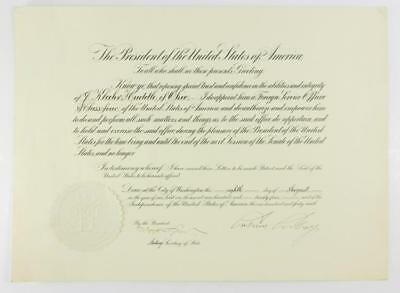 President Calvin Coolidge DS re: appointment in newly minted Foreign S... Lot 29