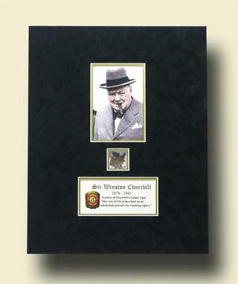 Winston Churchill: a piece of his cigar--the ultimate relic! Lot 17