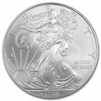 2009 American Silver Eagle 1 oz Silver Coin Direct From Mint Tube