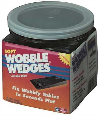 Wobble Wedges® - Soft Black -Table Shims - 30 Pieces # 4030 NEW!!