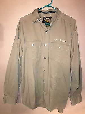 Harley Davidson 100% cotton brown/Tan button up An American Legend