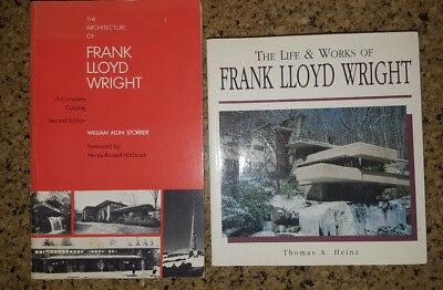 The Architecture of Frank Lloyd Wright: A Complete Catalog set lot of 2 books