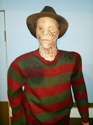 Life Size FREDDY KRUEGER Animatronic Figure Spirit Halloween Animated Gemmy RARE