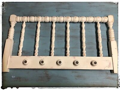 vintage nursery  hanger wall decor:bedframe  cute beautiful knobs chic shabby !