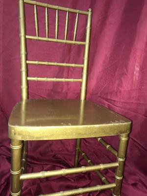 103 Gold Wood Chiavari Ballroom Used Chairs $6.89 each in one lot.
