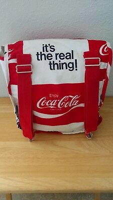 "1972 Coca-Cola ""It's The Real Thing"" Canvas Backpack (used)"