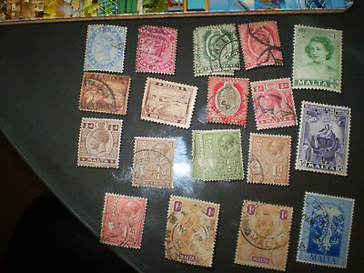 Malta A good selection of stamps from before the period of Queen Elizabeth
