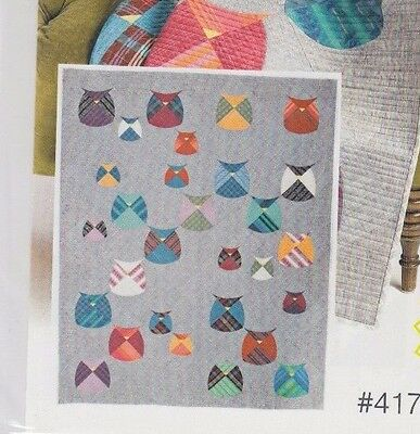 Mod Owls - fabulous pieced quilt PATTERN - uses Quick Curve Rulers