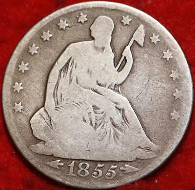 1855-O New Orleans Mint Silver Seated Liberty Half Dollar