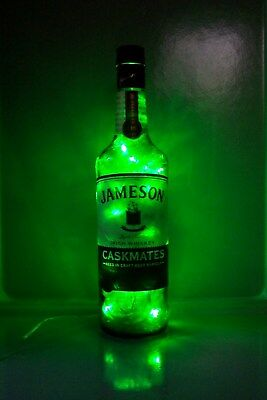 JAMESON CASKMATES Irish Whiskey Liquor Bottle Light 100 Green Motion LEDs Inside