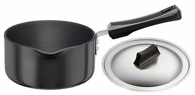 Futura Hard Anodised Sauce Pan 1-1/2-Litre with Steel Lid and Pouring Spout New