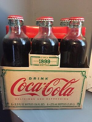 2007 Coca Cola Six Pack Bottles Carrier Vintage Style 1899