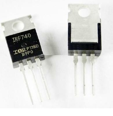 50 Pcs IRF740PBF IRF740 Mosfet N-CH 400V 10A TO-220