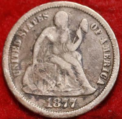 1877-CC Carson City Mint Silver Seated Liberty Dime