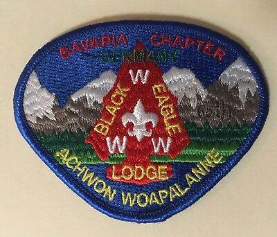 Black Eagle Lodge 482 Acheon Woapalanne Chapter Patch - Transatlantic Council