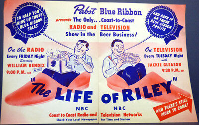 1949 PABST Blue Ribbon Beer ''Life Of Riley'' Radio & TV Promotional Brochure