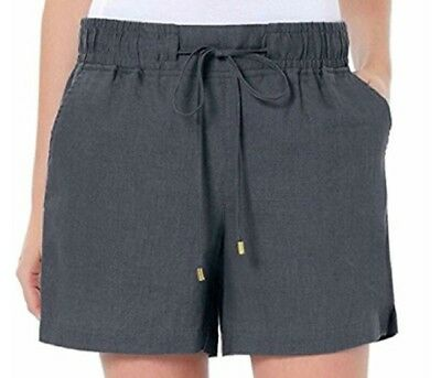 Ellen Tracy - Womens Linen Casual Drawstring Shorts  - New - Multiple Colors!