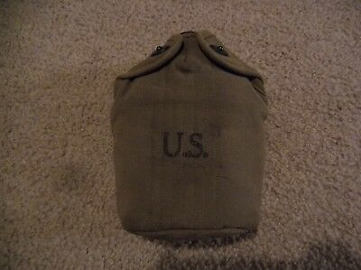 Vintage WW2 U.S. army canteen and pouch. Good look!